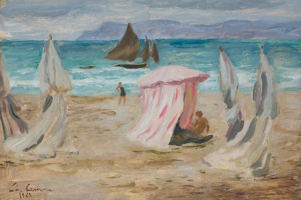 21: Charles Camoin 1879-1965 Scene de plage, 1923 Huile