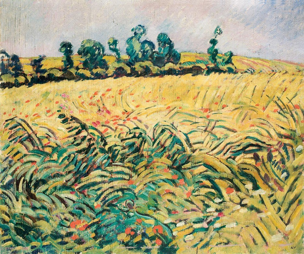 24: Louis Valtat 1869-1952 Champ de blés et coquelicots