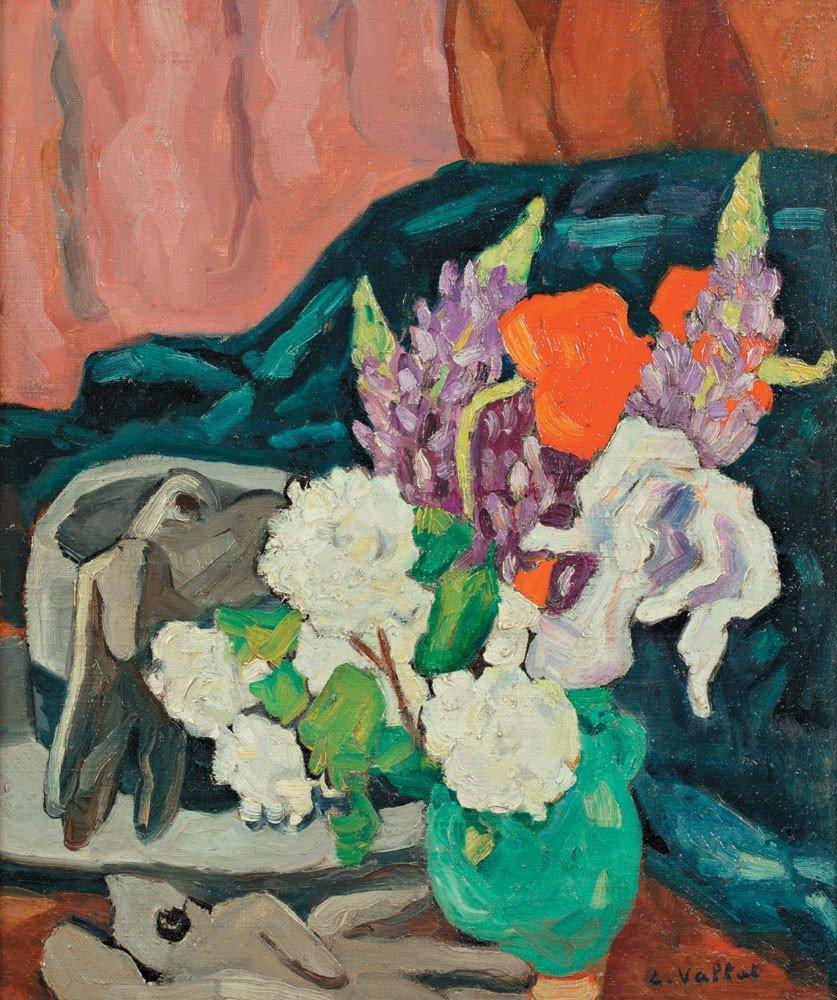 26: Louis Valtat 1869-1952 Fleurs, gants et chapeau, ci