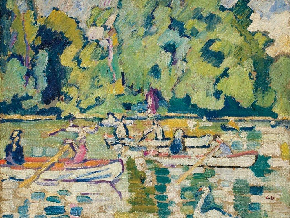 27: Louis Valtat 1869-1952 Barques au bois de Boulogne,