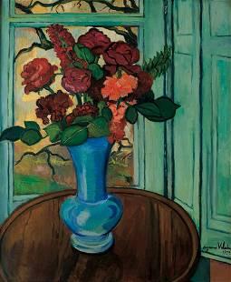 52: Suzanne Valadon 1865-1938 Bouquet de fleurs sur une