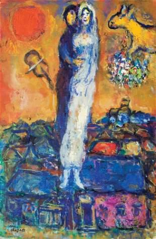 58: Marc Chagall 1887-1985 Les maries dans le ciel de V