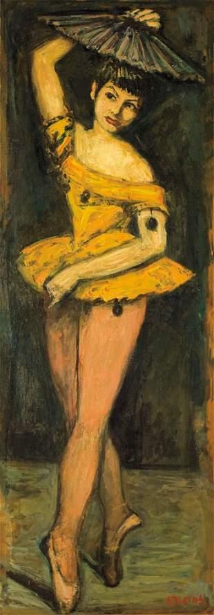 89: Arbit Blatas 1908-1999 Danseur Huile sur isorel 133