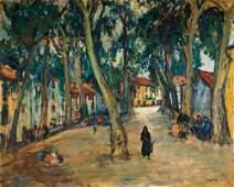 91: Arbit Blatas 1908-1999 La place de C�ret Huile sur