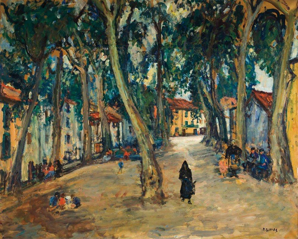 91: Arbit Blatas 1908-1999 La place de Céret Huile sur