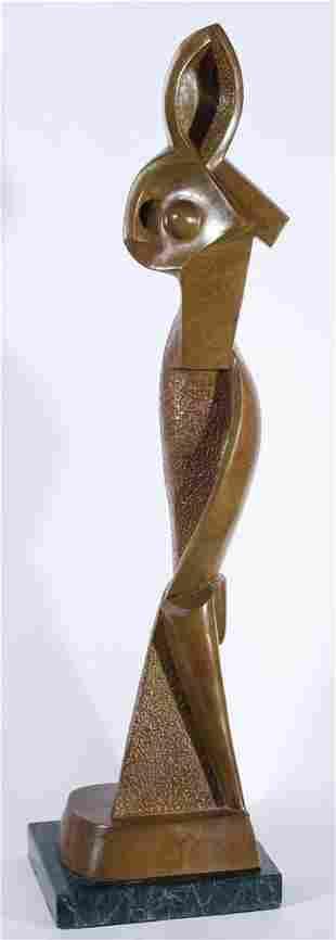 104: Alexander Archipenko 1887-1964 Statuette géométriq