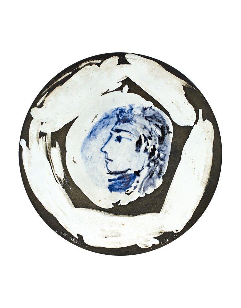 111: Pablo Picasso 1881-1973 Femme de profil, no.67, 19