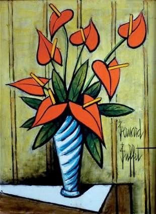 120: Bernard Buffet 1928-1999 Anthuriums dans un vase b