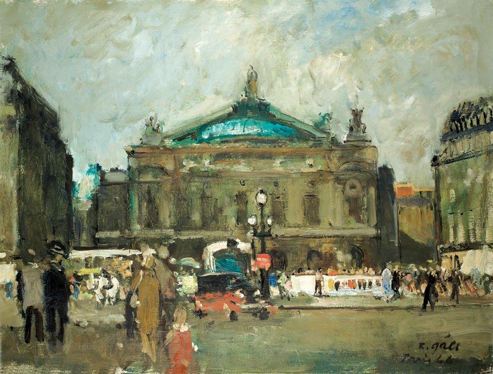 159: Francois Gall 1912-1987 Place de l'Opéra, 1946 Hui