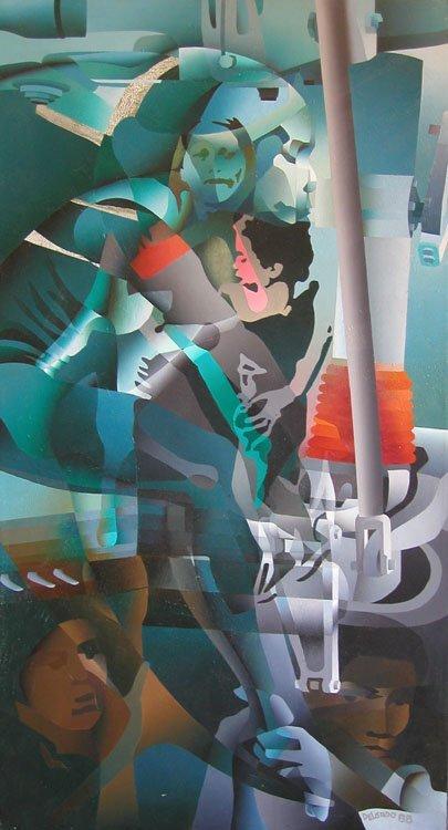 9b: Roberto Tito Delgado Untitled Oil on canv