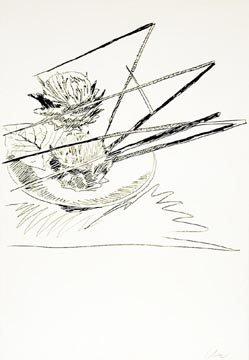 15a: Andy Warhol Flowers, silkscreen, 19