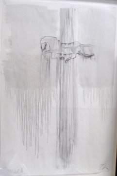 David Amico Untitled Charcoal and oil wa
