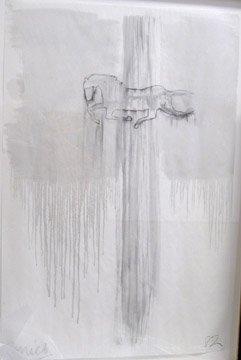 114: David Amico Untitled Charcoal and oil wa
