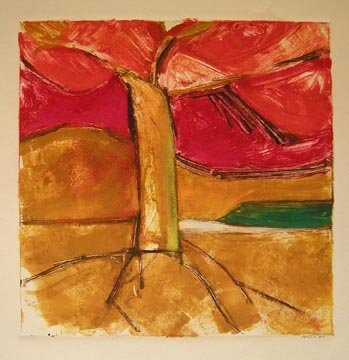 121: Daniel Brice Untitled Monotype, signed a