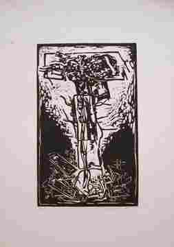 Hans Burkhardt Untitled Woodcut, numbere