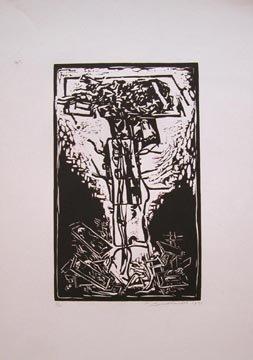 122: Hans Burkhardt Untitled Woodcut, numbere