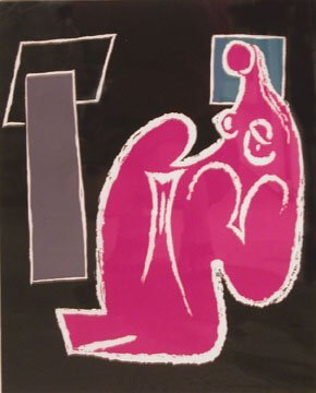 123: Hans Burkhardt Untitled (Figure) Lithogr