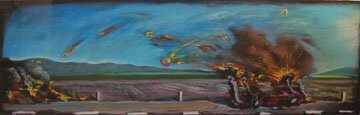 128: Carlos Almaraz Car Crash Color silkscree