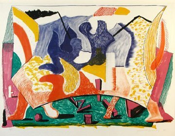 172: David Hockney Twelve Fifteen Lithograph,