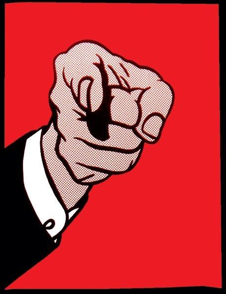 152: Roy Lichtenstein Finger Pointing