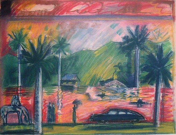 7: Carlos Almaraz Study for Red Lake