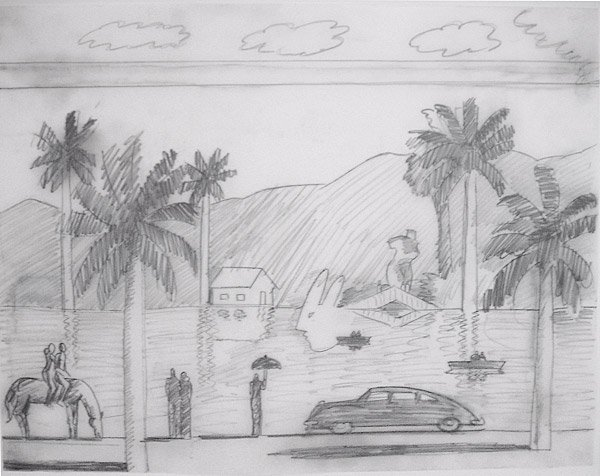 012: Carlos Almaraz Study for Red Lake