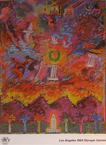 7: Carlos Almaraz Los Angeles 1984 Olympic Poster