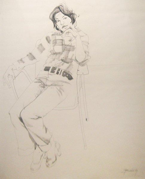 15: Don Bachardy Untitled (Portrait of Luz Selenia Offe