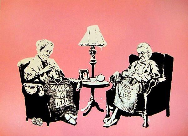 19: Banksy Grannies