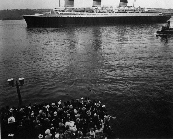 001: Berenice Abbott SS Normandy, c. 1937/Printed later