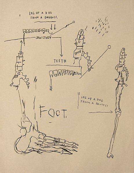 021: Jean-Michel Basquiat, Leg of a Dog, 1983