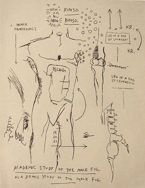 022: Jean-Michel Basquiat, Academic Study of Male Fig.