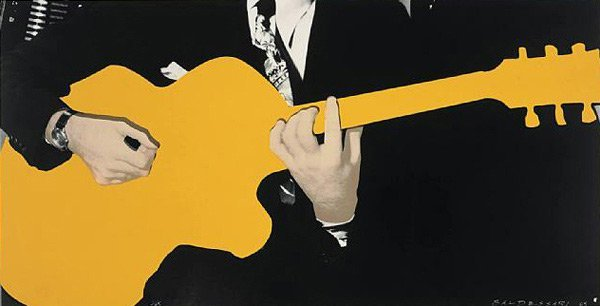 007: John Baldessari, Yellow Guitar