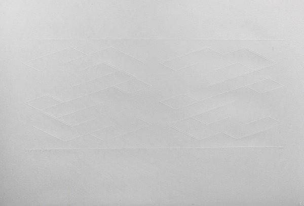 001: Josef Albers, Whiteline Squares: White Line, 1969