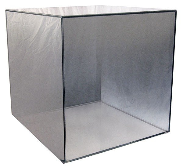 """016: Larry Bell, Untitled (15"""" Cube), 2007"""