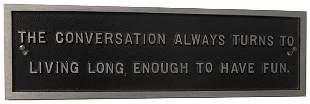 054: Jenny Holzer, Untitled (The Conversation Always Tu