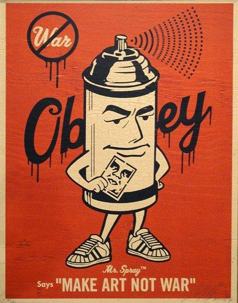 035A: Shepard Fairey, Mr. Spray, 2004