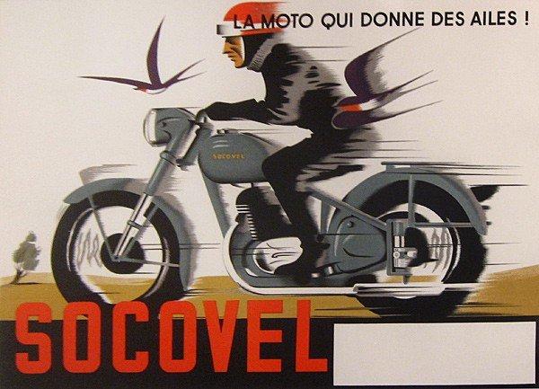 21: Vintage Poster, Socovel, La Moto Qui Donne..