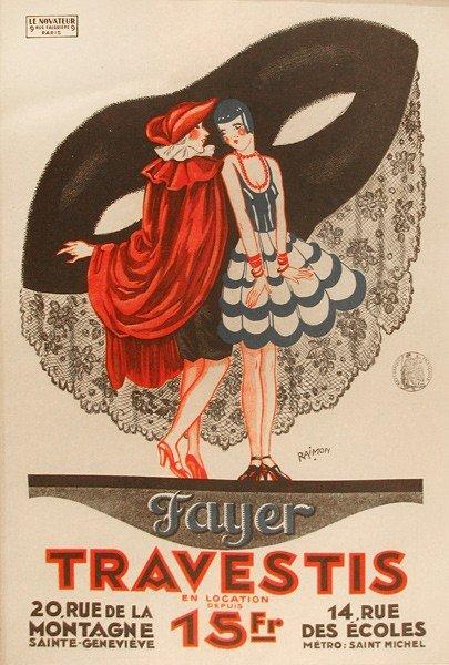 23: Vintage Poster, Fayer Travestis..., c. 1910