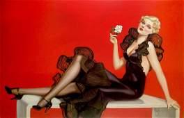 39: Alberto Vargas, Untitled (Lady in Black Dress), c.