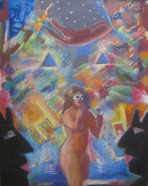 004: Carlos Almaraz, Untitled (woman), 1989
