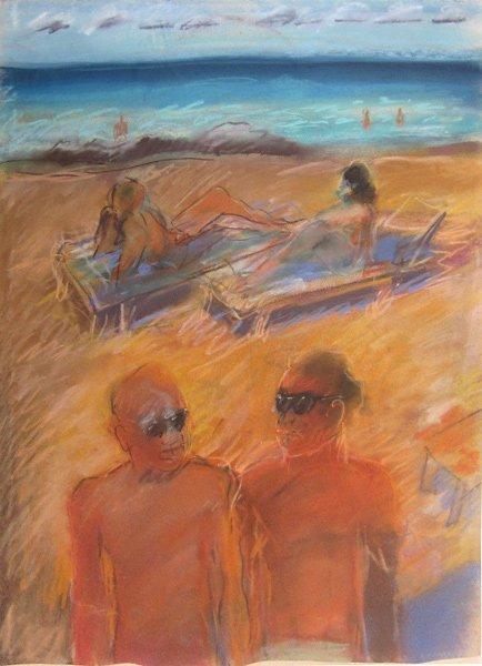 005: Carlos Almaraz, Untitled (beach), 1984