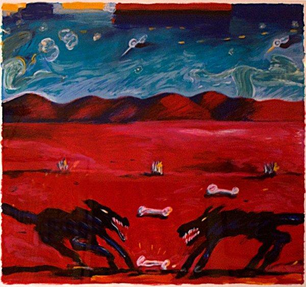 8: Carlos Almaraz, Greed, 1989