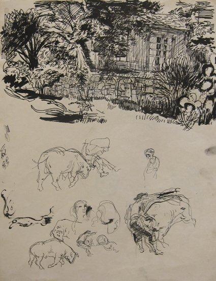 10: John Altoon, Untitled, c. 1955