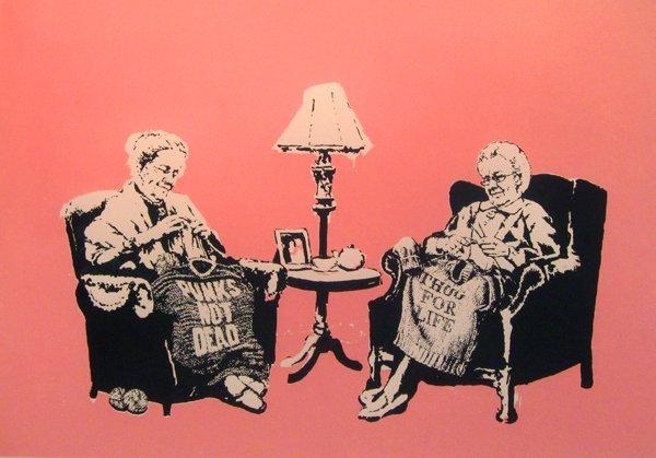 15: Banksy, Grannies, 2006