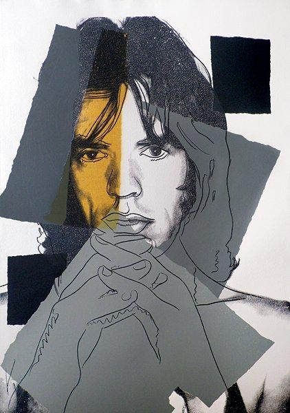 163: Andy Warhol, Mick Jagger, 1975