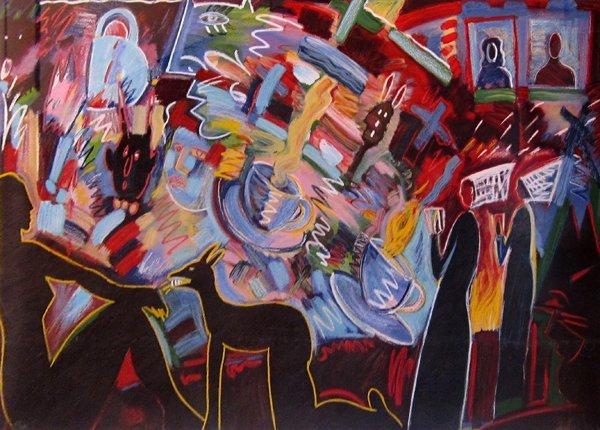 177: Carlos Almaraz Tea For Two, 1990