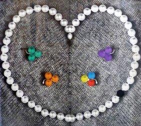 John Baldessari, Heart With Pearls, 1991