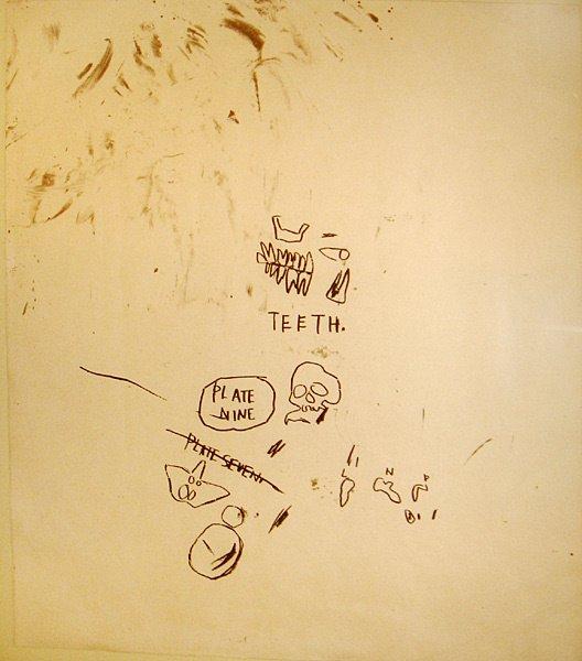 17: Jean Michel Basquiat One panel from Leonardo suite