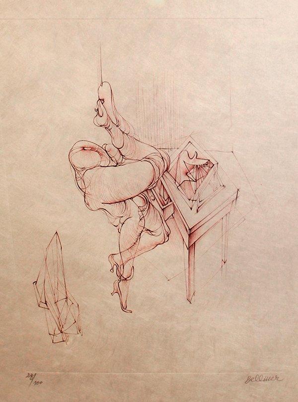 19: Hans Bellmer, The Sketch Table, 1967-71